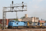 CSX 7929 unit is former LMS, unit was leased to CR